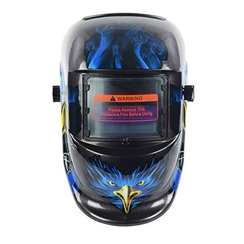 Máscara de casco de soldadura Pantalla de energía solar Función de atenuación automática Herramienta de uso industrial Máquina de soldadura Gafas de protección facial (Águila)