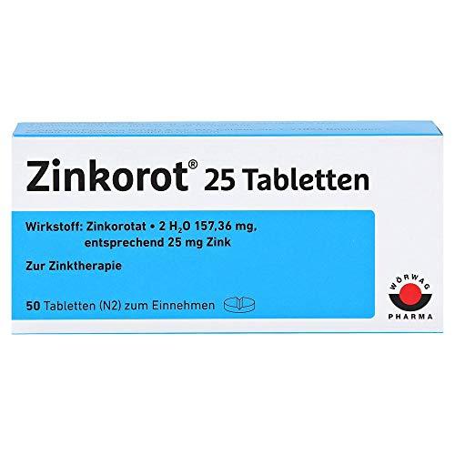 Zinkorot 25, 50 St. Tabletten