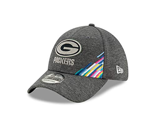 New Era Green Bay Packers 39thirty Stretch Cap - NFL 2019 On Field Crucial Catch - Graphite - M - L