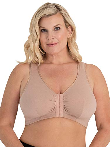 LEADING LADY Front-Closure Leisure Bra - Taupe, 44CDDD