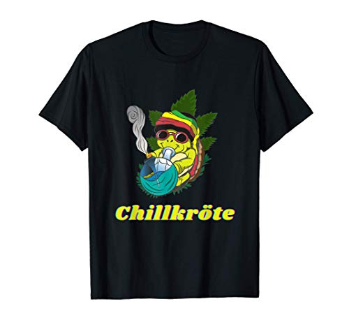 Chillkröte Bong Kiffer Schildkröte Weed Cannabis Rauchen T-Shirt