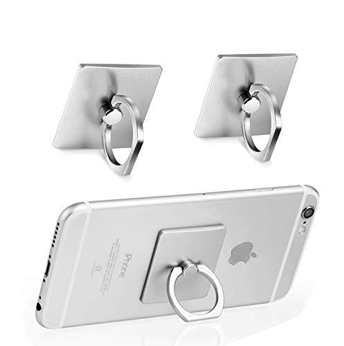 Anillo Soporte movil,Anillo movil,Anillo,2 Piezas Anillo Teléfono Celular se Encuentra, Universal Smartphone Dedos Sostenedores Agarre para el iPhone 11 X 8 7 Plus 6 6S Samsung Galaxy S10 S9 S8 S7