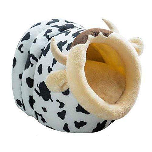 YSYDE Huisdier Kat Hond Cartoon Bed, Draagbaar en Lichtgewicht Comfy, Warm en Gezellig, Met Zachte Mat voor Houd Warm in de Winter, Draagbare Wasbare Leuke Slaapzak Mand