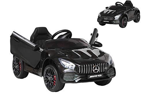 Toyscar Auto Macchina Elettrica per Bambini Mercedes AMG GT 12V Porte Apribili Full Optional con Telecomando Nero