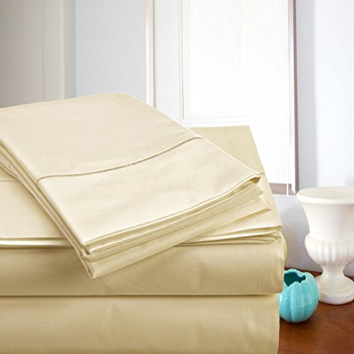 ADDY HOME FASHIONS MEGA Sale Today! Luxury Sheets On Amazon Luxury 800 Thread Count 100% Egyptian Cotton Ultra Soft Sheet Set,Queen - Ivory