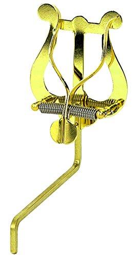 GEWA 730525 - Atril marcha saxofón mediano, 2 soportes, en latón