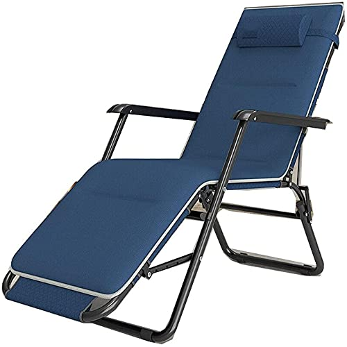 CHLDDHC Tumbona de jardín Silla de salón de Gravedad Cero Silla reclinable Informal al Aire Libre con Almohada + Almohadilla de algodón