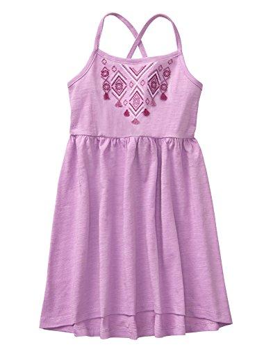 Gymboree Girls' Little Sleveless Hi Low Knit Dress, Lilac, M
