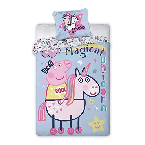 Peppa Pig Magical Unicorn Single Duvet Cover - European Size