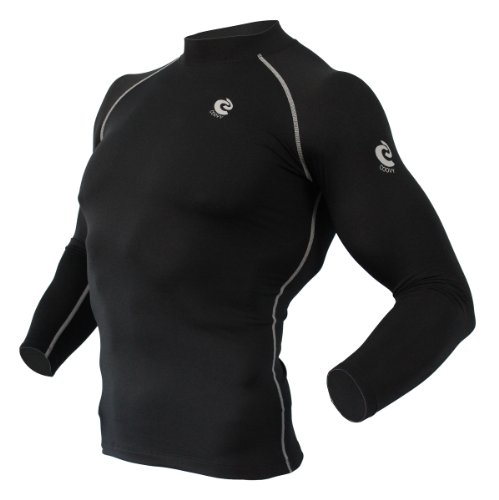 Coovy Mens Winter Thermal Compression Under Base Layer Cold Armour Gear Top, Size X-Large