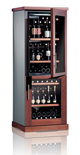 Ip Industrie - Cantina climatizzata legno massello 2 porte in vetro 2 celle capienza complessiva di 128 bottiglie