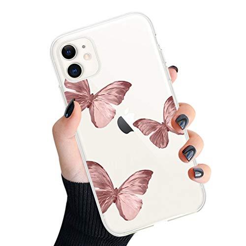 Rokmym Funda de silicona para iPhone 6 Plus/6S Plus, funda para teléfono móvil con impresión de mariposas para iPhone 6 Plus/6S Plus, ultrafina, de silicona TPU, transparente, antigolpes, antiarañazos