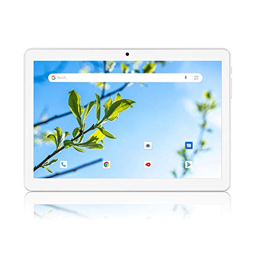 Tablet 10 Inch, Android 8.1 Go Tablets, Dual SIM Card Slots, 16GB Storage, GMS Certified, Wi-Fi, Bluetooth – Silver