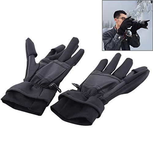 Camera Tripod-Camera Bag-selfie sticks Het is nieuwe Outdoor Sport Wind-stopper Volledige Vinger Winter Warm Fotografie Handschoenen, Grootte: L