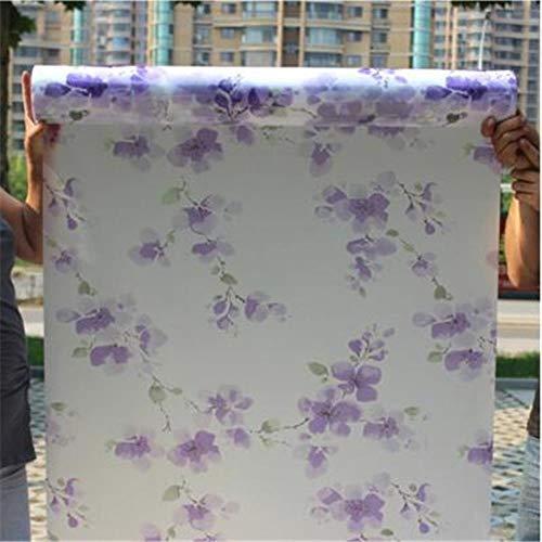 Breed 60cm * lang 200cm mat ondoorzichtig glas raamfolie voor raam privacy zelfklevende glas stickers waterdicht badkamer toilet, HQ25