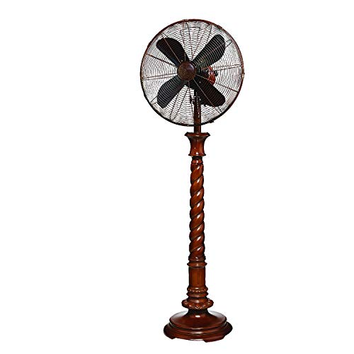 Oscillating Decorative Fan for Your Kitchen, Office, Bedroom - Cooling Home Decor, 3 Speeds with Tilting Head for Cooling Your Room Fast -Stylish, Quiet, Portable Fan (Durham, Floor)