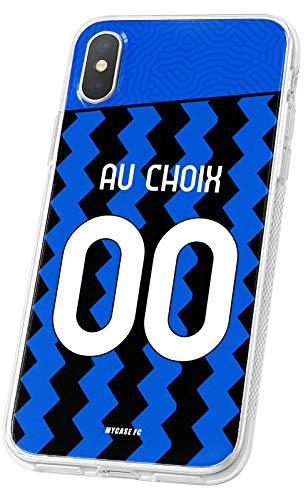 MYCASEFC - Cover Calcio Personalizzabile Inter Milan Huawei P9 Lite in Silicone Custodia di Calcio per Smartphone Personalizzata e Realizzata in Francia in TPU
