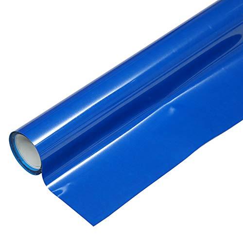 "Heat Transfer HTV Vinyl,12"" x 6.5 FT HTV Vinyl Rolls, Fluorescent Color,for Decor Sticker, Weeding Machine, Craft Cutter Machine, Printers, Letters, Car Decal, Vinyl Paper (Fluorescent Blue)"
