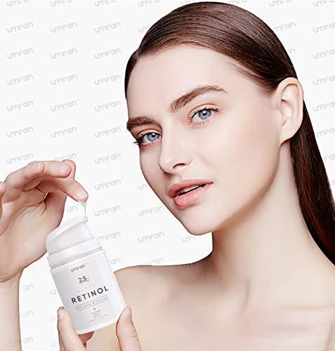 41q6jyWarsL - UMRAN Premium Retinol Cream, Anti-Aging Moisturizer Cream 2.5% for Face and Eye Care, Anti-Wrinkle Essence with Hyaluronic Acid, Day and Night Cream, Vitamin E and Green Tea, 50ml, 1.7 Fl.Oz