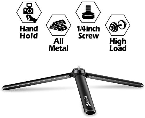 Zeadio Metal Mini Tripod Desktop Tabletop Stand Tripod with 1 4 Inch Screw for Smooth 4 Crane product image