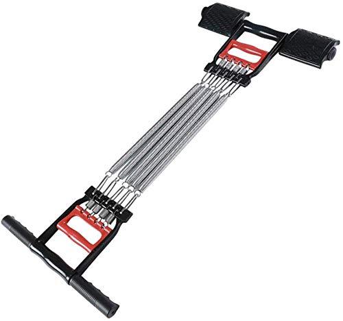 Alianfrwe Expander Fitness Brust Expander - Stahlfeder Einstellbare Spannung Abnehmbare Stange Multifunktions-FitnessgeräT 3 In 1