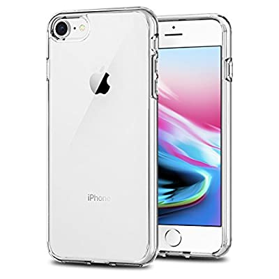 TENOC Phone Case Compatible for Apple iPhone 8 and iPhone 7 4.7 Inch, Crystal Clear Ultra Slim Cases Soft TPU Cover Full Protective Bumper