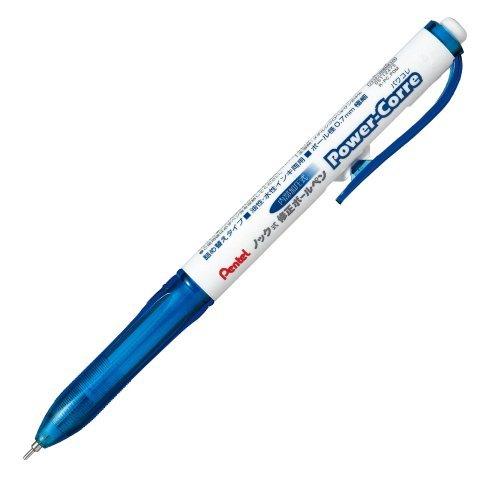 ぺんてる ノック式修正ボールペンパワコレ ブルー軸 XZL15-WC 00065666 【まとめ買い10本セット】