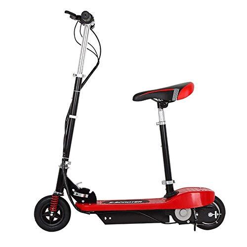 FUJGYLGL Portable Adulto del Scooter eléctrico, Cuerpo de aleación de Aluminio, Plegable, Cuerpo de Luz, frenado Sensible, neumáticos Resistentes al Desgaste, Modos de Velocidad múltiple