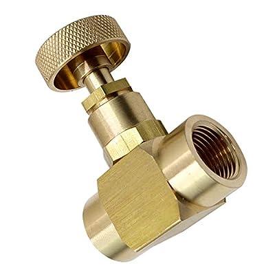 "Generic Brass Instrument Needle Valve Wheel Handle 600 Psi(WOG) (3/8"" NPT Female x 3/8"" NPT Female) by ITS"
