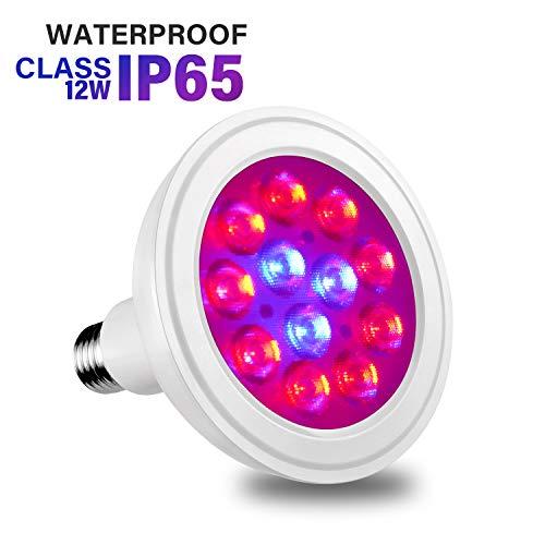 Luxbird Waterproof Aquarium Refugium Light Bulb, LED Aquarium Plant Grow Light for Macroalgae and Indoor Plants E26 Non Dimmable(Refugium-12W)