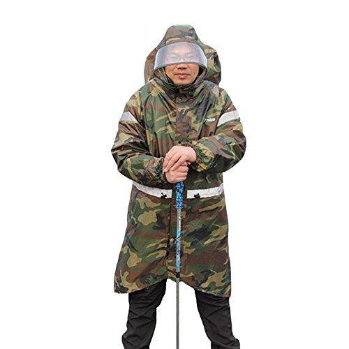 Zzhf yuyi impermeabile esterno adulto impermeabile impermeabile impermeabile zaino da campeggio impermeabile da pesca Poncho impermeabile antipioggia pioggia pieghevole (colore: C, taglia: M)