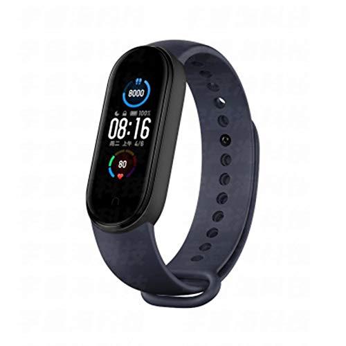 LDJ Band 5 Smart Bracelet Smartband Reloj de pulsera para hombre y mujer, con frecuencia cardíaca, Bluetooth, impermeable, para iOS Android, D