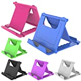 YENIE 6PACK Desktop Cell Phone Stand Holder, Portable Universal Desk Stand for All Mobile Smart Phone Tablet Display