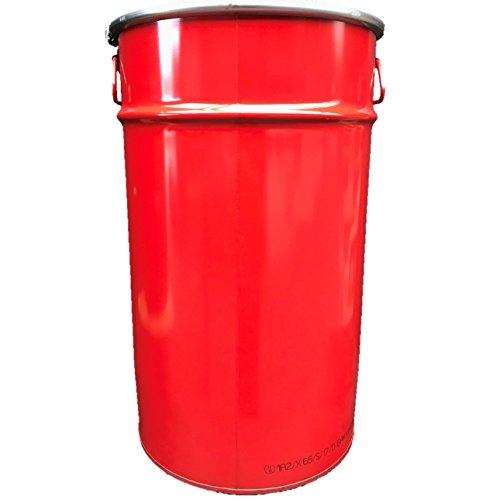 60 Liter Hobbock/Deckelfass Fass Garagenfass Ölfass NEU Rot