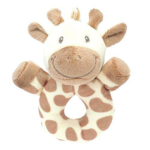 My Teddy Newborn rammel grijpfling giraffe beige/lichtbruin