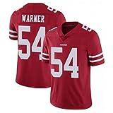 TTATT Men Football T-Shirt Jersey San Francisco 49Ers 54# Kurt Warner Embroidered Rugby Suit Sport Jersey...