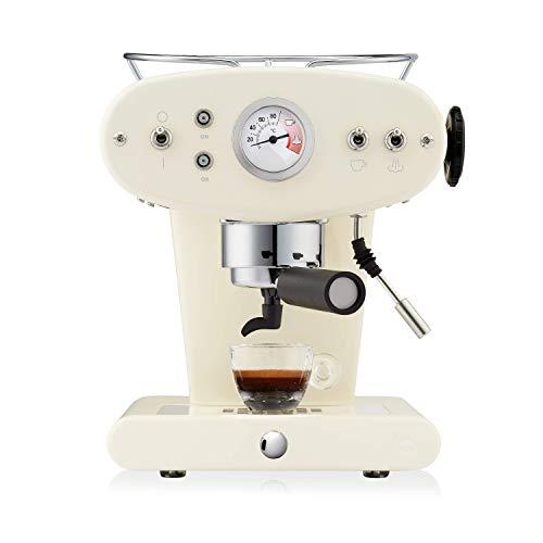 Illy caffè, Máquina de café espresso para monodosis E.S.E, Modelo X1 Trio, color crema