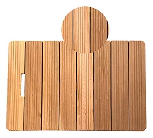 tarima madera Estera de baño de tamaño múltiple, almohadilla de los pies de la ducha de madera natural antideslizante, pedal de rectángulo de baño Fácil de limpiar esteras de piso de madera alfombra p