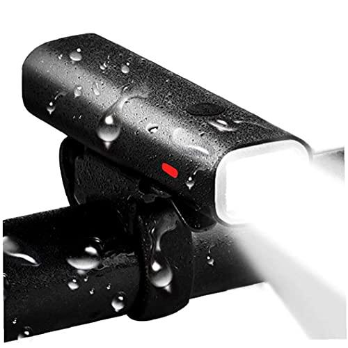 Inteligente Linterna De La Bici, USB Delantera De La Bicicleta Luz Adapta Recargable De Waterpoof para Todas Las Bicicletas Resistente Al Agua, De Seguridad para Niños, Montaña,