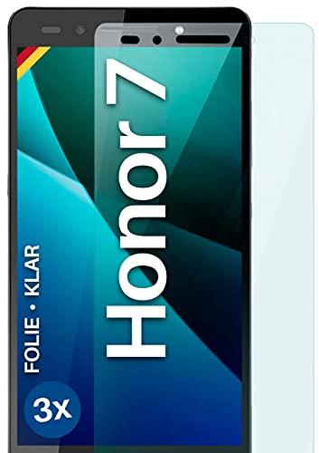 moex [3 Stück] Schutzfolie kompatibel mit Huawei Honor 7/7 Premium Bildschirmfolie Hüllen-Fre&lich, 0.2 mm dünne Bildschirmschutzfolie, Display Schutz extra Kratzfest - HD Ultra-Klar