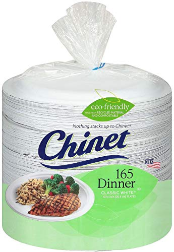 Chinet  Paper Dinner Plates  165 ct