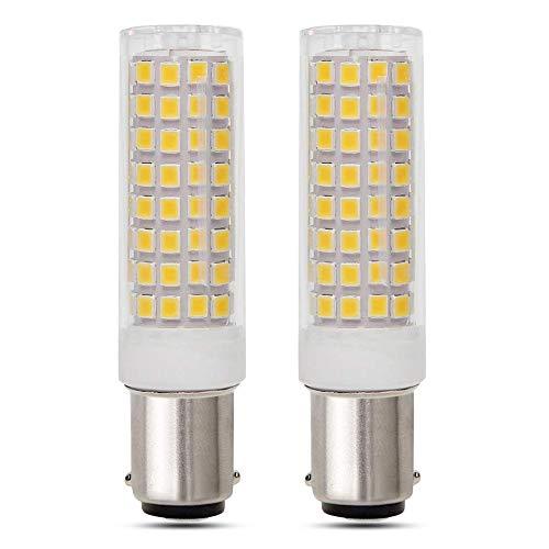 B15D LED 10W 230V Warmweiß 3000K, Doppelkontakt, 800LM, Ersetzt Halogenlampe B15 80W, Nicht Dimmbar, Birne Bajonettsockel B15D für Stehlampe/Deckenfluter/Esszimmerlampe, 2er-Set