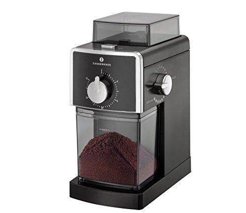 Zassenhaus Elektr. Kaffeemühle Kingston schwarz, Edelstahl, 22 x 17 x 27.5 cm