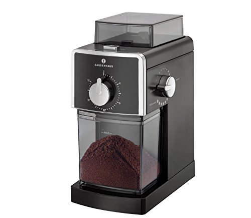 Zassenhaus Elektr. Koffiemolen Kingston zwart, roestvrij staal, 22 x 17 x 27,5 cm