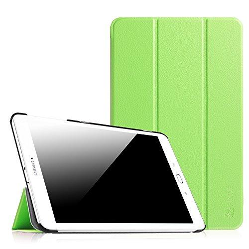 Fintie Samsung Galaxy Tab E 9.6 Hülle Case - Ultra Schlank Superleicht Ständer SlimShell Cover Schutzhülle Etui Tasche für Samsung Galaxy Tab E T560N / T561N 24,3 cm (9,6 Zoll) Tablet-PC, Grün