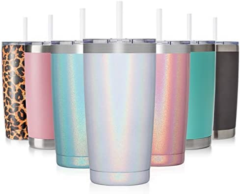CIVAGO 20oz Insulated Stainless Steel Tumbler Coffee Tumbler with Lid and Straw Double Wall product image