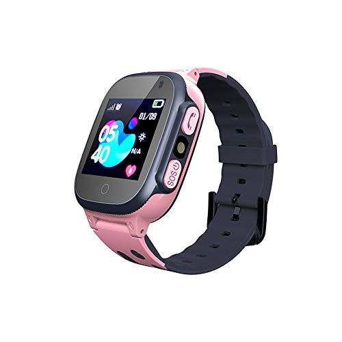 Smooce Kinder Smartwatch LBS Tracker,Touch LCD Kid Smart Watch mit Taschenlampen Anti-Lost Voice Chat für 3-12 Jahre alt Jungen Mädchen Geburtstagsgeschenke(Pink)…