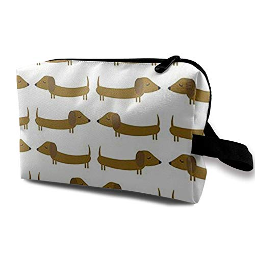 XCNGG Women's Cosmetic Bag Soft Toiletry Bags Multipurpose Handbag Storage Bag Dachshund