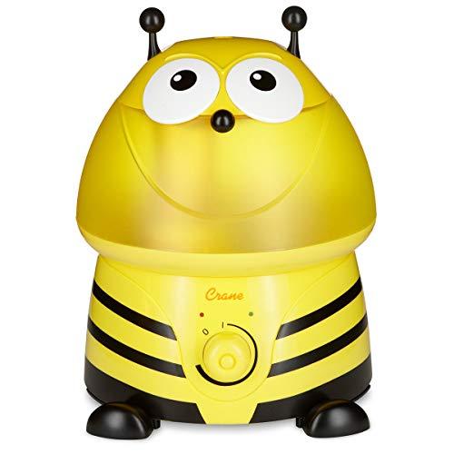 Set Crane Ultraschall-Luftbefeuchter & Windel Kinderhaus Blaubär, Leiser Luftbefeuchter für Schlafzimmer Kinderzimmer, Grosser Wassertank 3,8 l, Auto-Abschaltung, Design:Buzz die Biene