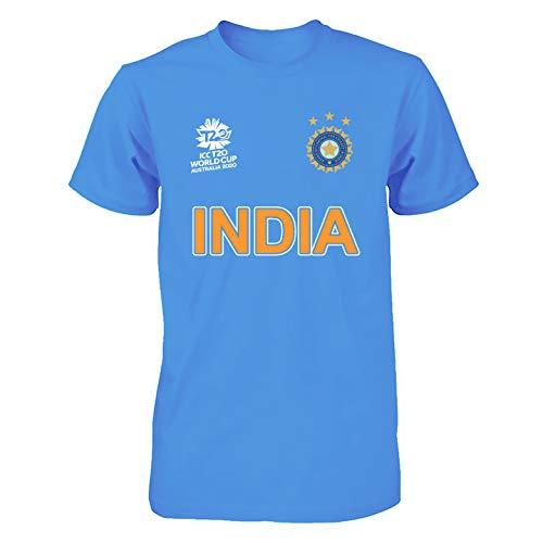 Men Women Cricket World Cup 2020 Shirt All Teams India Pakistan Australia South Africa England BANGLADES Newzealand Fan Supporters T Shirt 100% Cotton (India, Large)